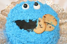 Tarta Triki o monstruo de las galletas. Triki cake