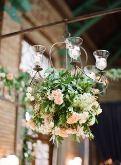 Floral chandelier, photo: Olivia Leigh Photographie
