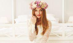 Milla Miska wedding 2012, gown, flower headpiece