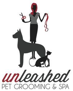 Logo work for Unleashed Pet Grooming & Spa. www.joshuaphillipsdesign.com