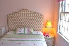 A fabulous print for a young girl's headboard.