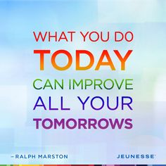 What you do today can improve all your tomorrows. -Franz Kafta