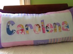 Disney Princess personalized pillow. $35.00, via Etsy.