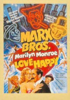*MARILYN & GROCHO, HARPO MARX, film Love Happy