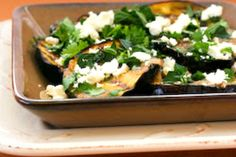 Grilled Eggplant Recipe with Garlic-Cumin Vinaigrette, Feta, and Two ...