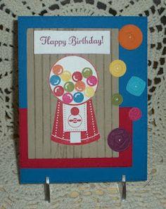 Stampin UP kids birthday card