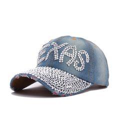 0574f8ec686 Jeans Baseball Caps Woman 2015 Ball Cap Rhinestones Hat Casual Texas Cap  Summer Style Retro Distressed