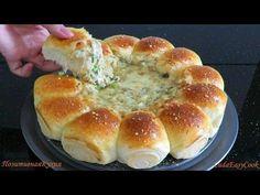 БУЛОЧКИ РОЛЛЫ с СЫРНЫМ ДИП соусом с грибами - Dinner buns with cheese dipping sauce - YouTube