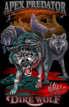 Apparel and T-shirt Design :: illustration graphic design sportswear tee shirt Alpha Pack, Apex Predator, Dire Wolf, Orange Sky, Wolf Howling, Lion Sculpture, Tee Shirts, Bats, Wolves
