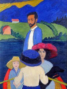 Boating / 1910 / the central figure depicted is the artist Wassily Kandinsky. The Milwaukee Art Museum Wassily Kandinsky, Franz Marc, Cavalier Bleu, Blue Rider, Milwaukee Art Museum, Expressionist Artists, Ouvrages D'art, Art Moderne, Art Plastique