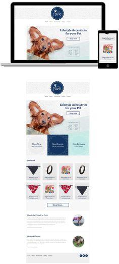 Pet accessories website design by http://www.lwcreative.co.nz
