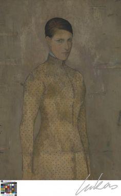 Gustave van de Woestyne (1881-1947) is de jongste kunstenaar van de eerste groep. Op nauwelijks twintigjarige leeftijd volgt hij zijn broer naar Latem, en dit verblijf heeft een beslissende invloed op zijn verdere kunstenaarsbestaan. In het landleven ontdekt hij een antwoord op zijn diepe religiositeit. Van de Woestyne ontleent echter nauwelijks uit de christelijke iconografie. Het dorp en zijn bewoners vormen het toneel en de figuranten in religieuze scnes, waarin de mythe of de p