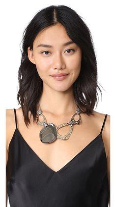 Alexis Bittar Crystal Accent Bib Necklace | SHOPBOP