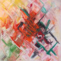 """Indecision"" Acrylic on canvas 30/30 cm"