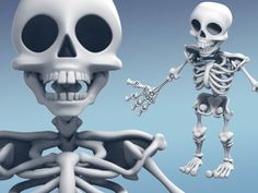 A stylized skeleton made of bones that can be easily assembled without any glue, twine or bolts.     Arms, legs, spine and even fingers are moveable. It has similar constraints to a real skeleton. Works great as a toy, Halloween decoration or just something cool that can sit on your desk. If you like you could even put it on puppet strings.    Check it out in motion here: http://i.giphy.com/lXiRzFKpHAdVFXqA8.gif     The skeleton is a heavily modified version of the skeleton of the game Last…