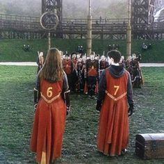 Harry, Ginny and the Quidditch team