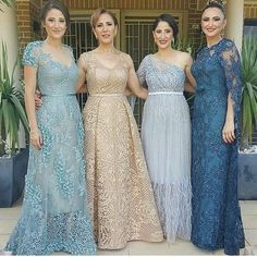 Image may contain: 4 people Mother Of The Bride Gown, Mother Of Groom Dresses, Mothers Dresses, Hijab Evening Dress, Evening Dresses, Brides Mom Dress, Plus Size Gowns, Bridesmaid Dress Colors, Mode Hijab