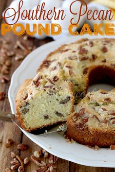Southern Pecan Pound Cake is the most moist and tastes pound cake ever! It has so much flavor and comes out perfect every time!