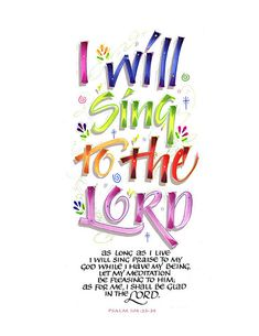 I will sing to the LORD-shadow copy by marthalever, via Flickr