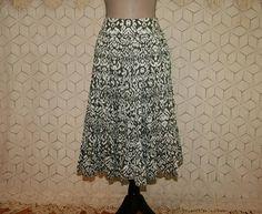 Olive Green Batik Skirt Cotton Skirt Petite Hippie Boho