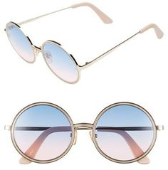 6a5bf1bdfb1 SUNDAY SOMEWHERE  Charlie  52mm Round Sunglasses Round Metal Sunglasses