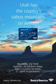 Dare to head west? Earn points towards your big outdoor adventure with the Travel Rewards credit card. Any airline, any hotel, anytime—no blackout dates. Learn more.