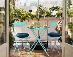 Ecco come arredare un piccolo terrazzo con 10 soluzioni economiche IKEA Outdoor Furniture Sets, Outdoor Decor, Terrazzo, Sweet Home, Design, Home Decor, Home, Decoration Home, House Beautiful