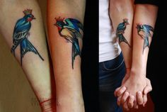 Matching Love Bird Tattoos By Sasha Unisex