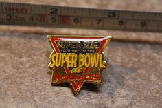 McDonalds Super Size SuperBowl NFL Employee Collectible Pinback Pin Button #McDonalds