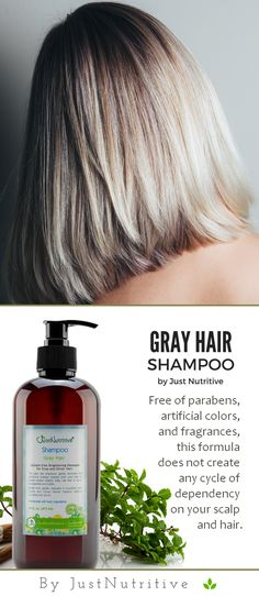 Gray Hair Shampoo - - Softer, smoother and fuller hair starts at the roots. Rosemary, Geranium and Lavender Essential oils gently reinvigorate follicles while soothing your scalp for lovely results. Shampoo For Gray Hair, Short Hair Styles, Natural Hair Styles, Fuller Hair, Hair Starting, My Hairstyle, Hair Dos, Hair Inspiration, Blond