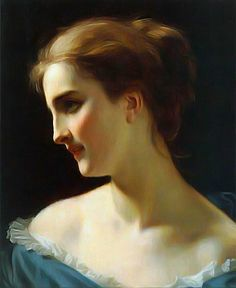 Hugues Merle - A portrait of a Woman