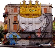 The graffiti and street art on this list is perfect for spreading messages . Powerful Street Art Pieces That Tell The Uncomfortable Truth. Graffiti Artwork, Street Art Graffiti, Banksy Mural, Urban Graffiti, Graffiti Lettering, Graffiti Artists, Amazing Street Art, Amazing Art, Awesome