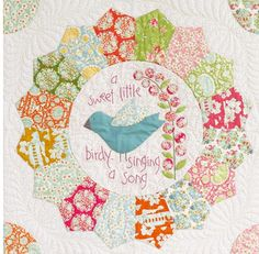 Tilda-Beyond the Porch Quilt Pattern-Natalie Bird-Quilt Pattern -Bumblebee Tilda Fabric-Tilda- Online Quilt Fabric Australia Patchwork Baby, Patchwork Fabric, Bird Patterns, Fabric Patterns, Applique Patterns, Anni Downs, Dresden Plate Quilts, Green Zebra, Bird Quilt