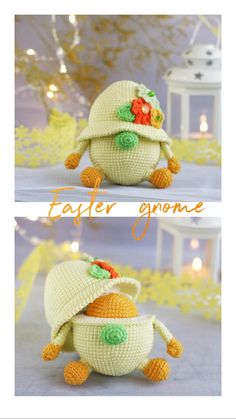 Easter Gnome - crochet pattern gnome/ Farmhouse Easter Spring Decor/ Easter Gift Decor/ Easter Eggs crochet pattern Set/ crochet pattern egg Handmade Ideas, Handmade Toys, Handmade Crafts, Easter Party, Easter Gift, Crochet Patterns Amigurumi, Amigurumi Doll, Jute Crafts, Knitting Toys