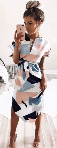 summer outfits  Printed Dress