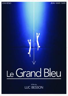 Pictogram Movie Poster - Le Grand Bleu - #movieposter #LeGranBleu #pictogram #pictogram