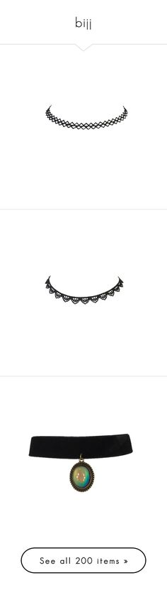 """""""bijj"""" by soniamoreira ❤ liked on Polyvore featuring jewelry, necklaces, macrame necklace, macrame jewelry, crochet jewelry, zig zag jewelry, zig zag necklace, crochet choker, choker necklace and crochet choker necklace"""
