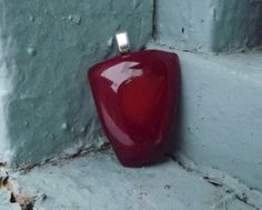 Red Glass Pendant/ Teenager Jewelry/ Fused by FancyThatFusion, $8.00