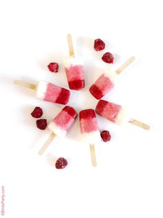 Raspberry & Yogurt Ombré Popsicles
