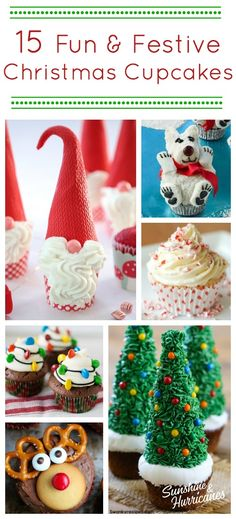15 Christmas Cupcakes That Are Fun & Festive : 15 Christmas Cupcakes That Are Fun & Festive. Christmas Goodies, Christmas Candy, Christmas Desserts, Christmas Baking, Christmas Treats, Christmas Holidays, Holiday Baking, Holiday Treats, Christmas Recipes