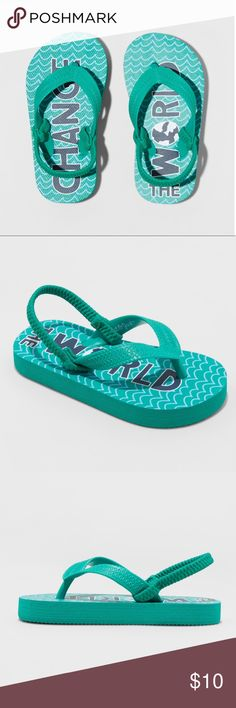 bfbcb8cd0e1c Toddler Boys  Larkin Flip Flop Sandals - Green Warmer weather calls for  some flip-
