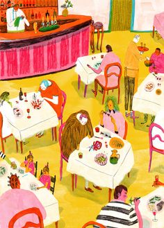 Art by Mouni Feddag. Art And Illustration, Illustrations And Posters, Graphic Design Illustration, People Illustration, Naive Art, Art Inspo, Artsy, Sketches, Art Prints