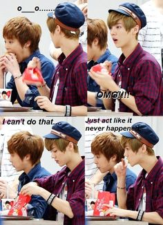 i bet you wanna try to do that too, luhan (•̪●) but the fact is, you can't open your mouth like xiumin ≧◡≦