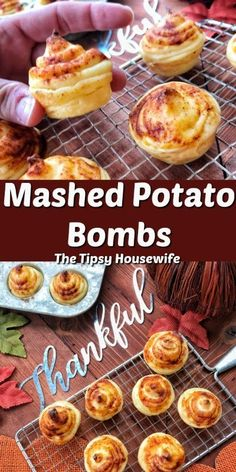 Potato Bombs Mashed Potato Bombs, a great Thanksgiving Dinner and Holiday Party Appetizer. Easy to make and tasty!Mashed Potato Bombs, a great Thanksgiving Dinner and Holiday Party Appetizer. Easy to make and tasty! Mashed Potato Bombs, Instant Mashed Potatoes, Mashed Potato Recipes, Potato Food, Cheesy Potatoes, Baked Potatoes, Holiday Party Appetizers, Appetizers For Party, Easy Thanksgiving Appetizers