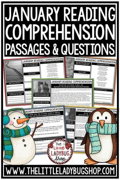 You will love growing your readers with the January Reading Comprehension Passages Weekly Practice. It is 6 Weeks of Reading Comprehension Passages for 3rd Grade, 4th Grade, and 5th Grade. Perfect for: Warm-up, Bell Work, Homework, or quick assessments. Students can use independently in literacy groups, Guided reading groups! Perfect for students in 3rd grade, 4th grade, 5th grade and homeschooling #readingpassages3rdgrade #readingpassages #readingpassages4thgrade