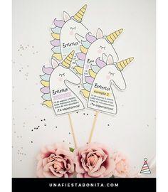 Invitación unicornio - Amarillo