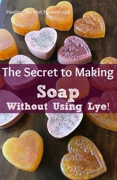 When I first became interested in learning to make my own soap, I did NOT want to mess with lye. So the question arose: Can you make soap without using Lye? The Answer: Yes. Find out how to get around using lye in hand made soap! Soap Making Recipes, Homemade Soap Recipes, Lye Soap, Soap Molds, Castile Soap, Glycerin Soap, Making Soap Without Lye, How To Make Soap, Diy Organic Soap Without Lye