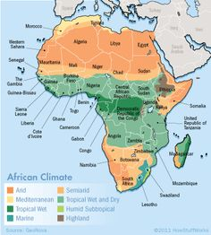 Map  Africa Climate
