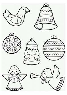 Coloring pages that could be printed on Shrinky dink sheets to make mini ornaments