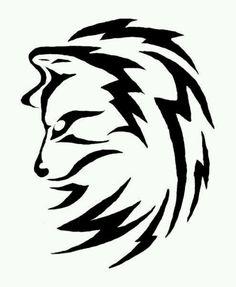 Tribal Wolf tattoo design